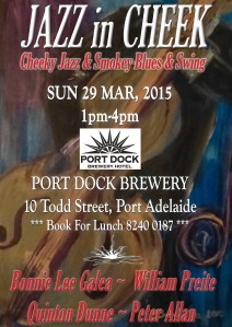 JAZZ in CHEEK Port Dock Brewery flat