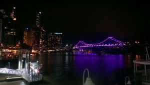 Sensational View from our stage on Sunday  on Brisbane River at  Mr & Mr's G's